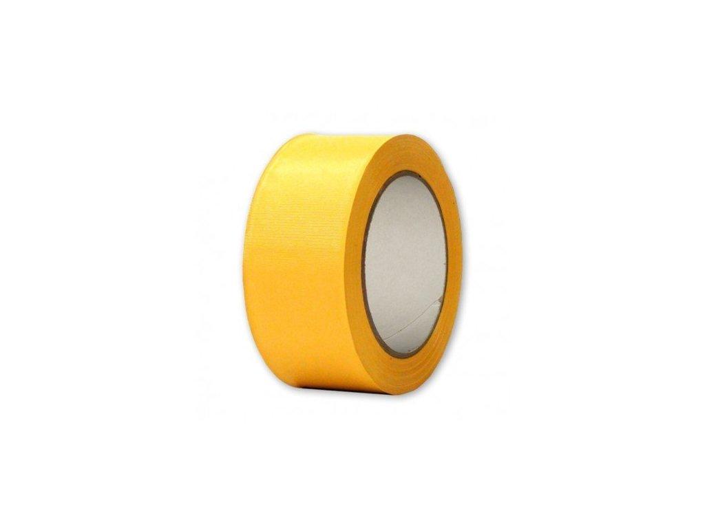Podlahová vyznačovací páska 50 mm x 33 m - žlutá rýhovaná