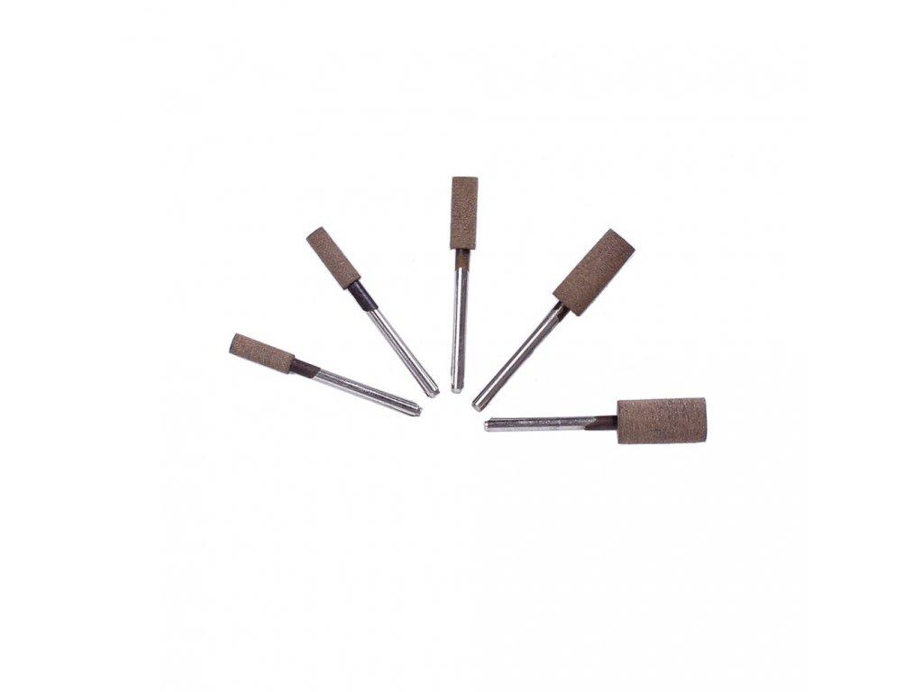 Leštící tělísko 6x17x3mm hnědé s příměsí dřeva