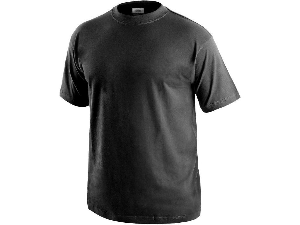 Tričko s krátkým rukávem DANIEL, černé