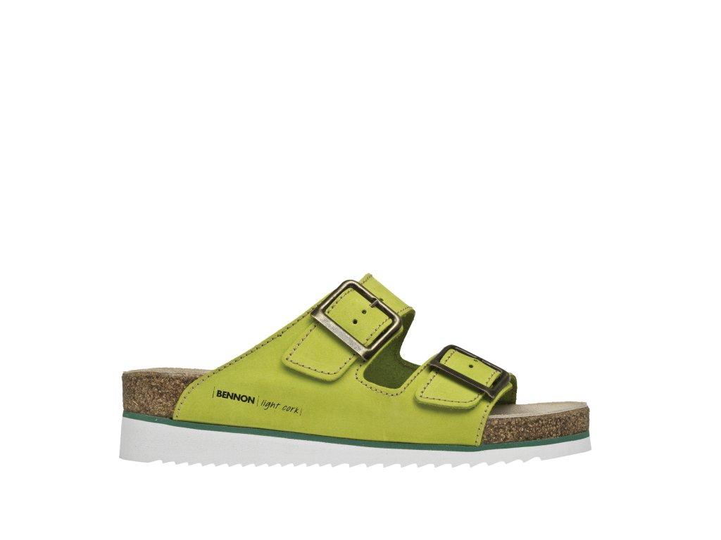 BENNON obuv GREEN COBRA HEEL SLIPPER