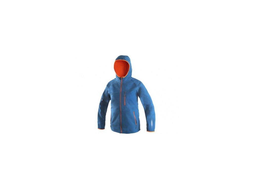 LEDUC Dětská  softshellová bunda LEDUC, modro- oranžová