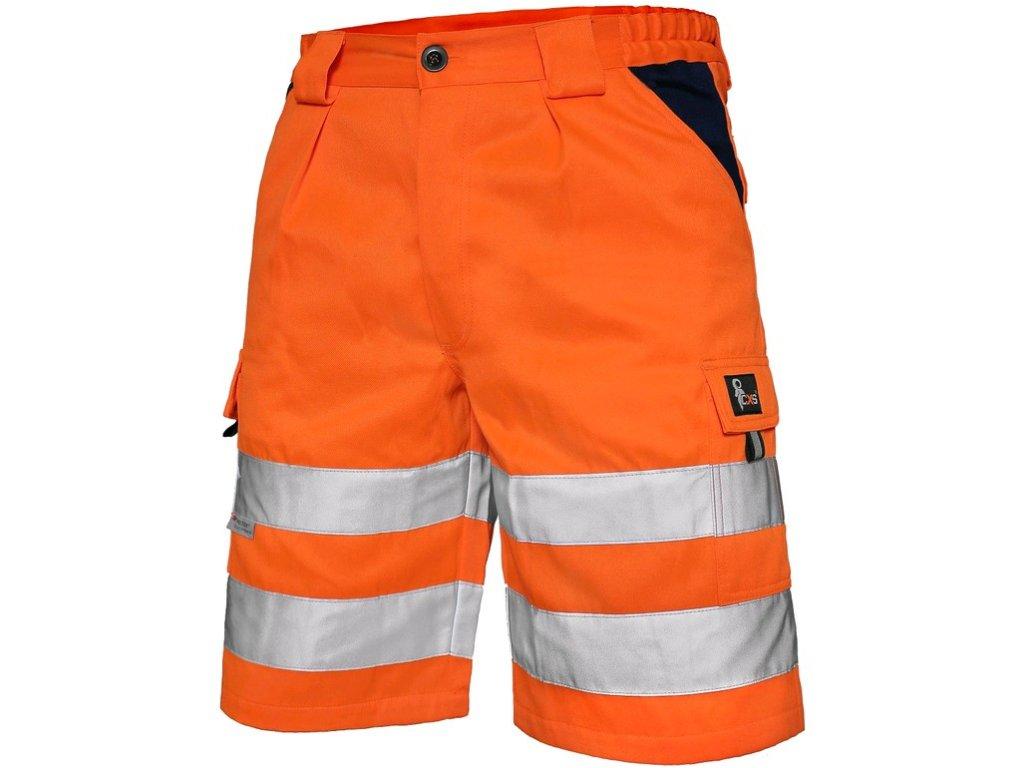 Kraťasy CXS NORWICH, výstražné, pánské, oranžové