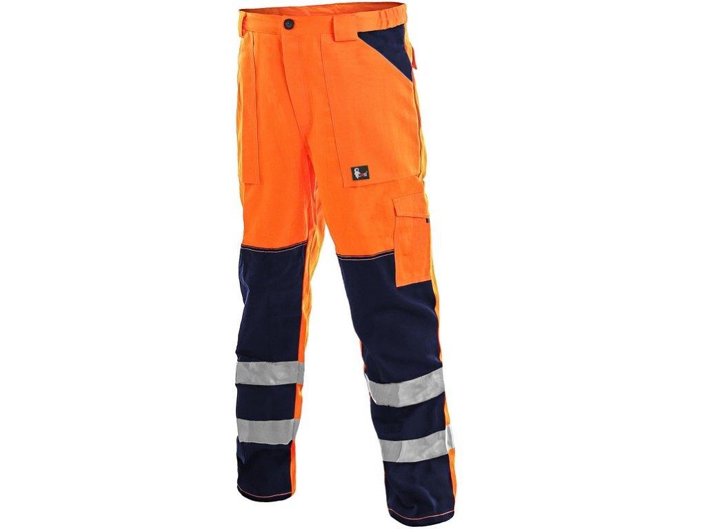 Kalhoty CXS NORWICH, výstražné, pánské, oranžovo-modré