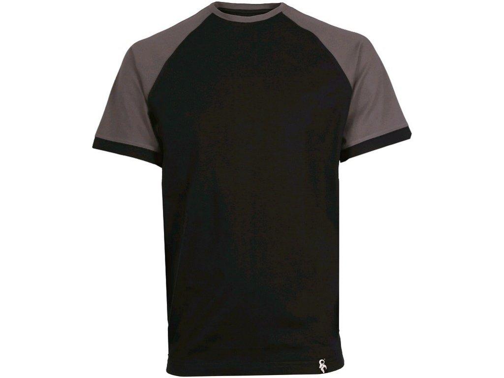 Tričko s krátkým rukávem OLIVER, černo- šedé