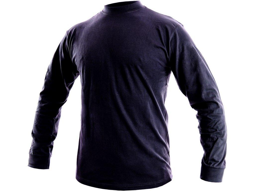 Pánské tričko s dlouhým rukávem PETR, tmavé modré