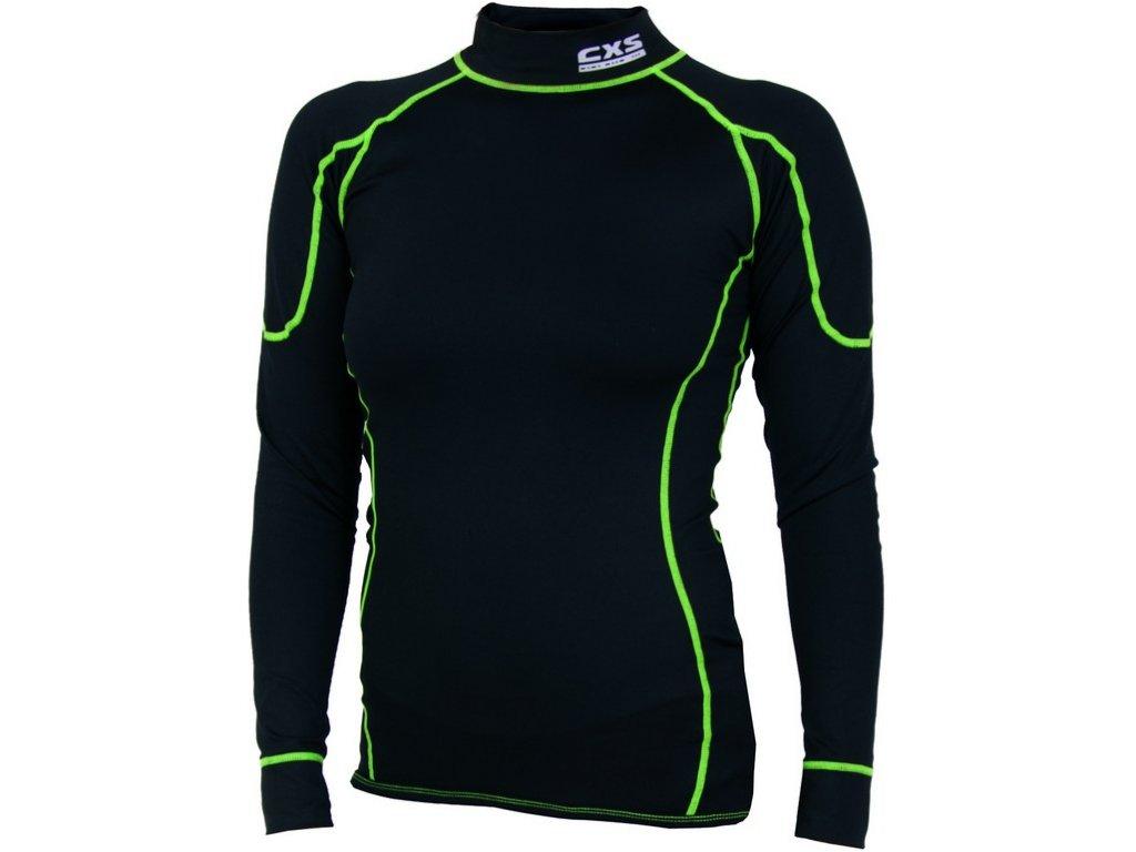 Dámské funkční tričko REWARD, dl. rukáv, černo-zelené