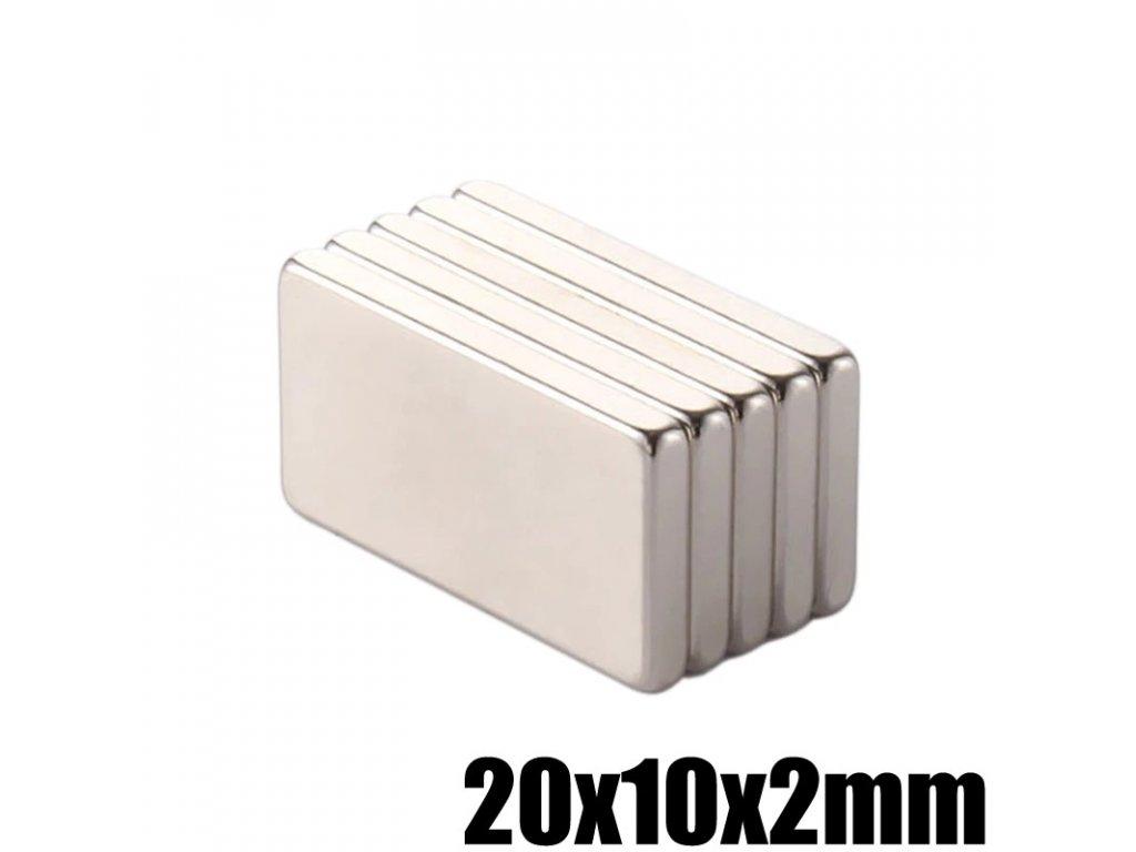 Magnet 20x10x2mm