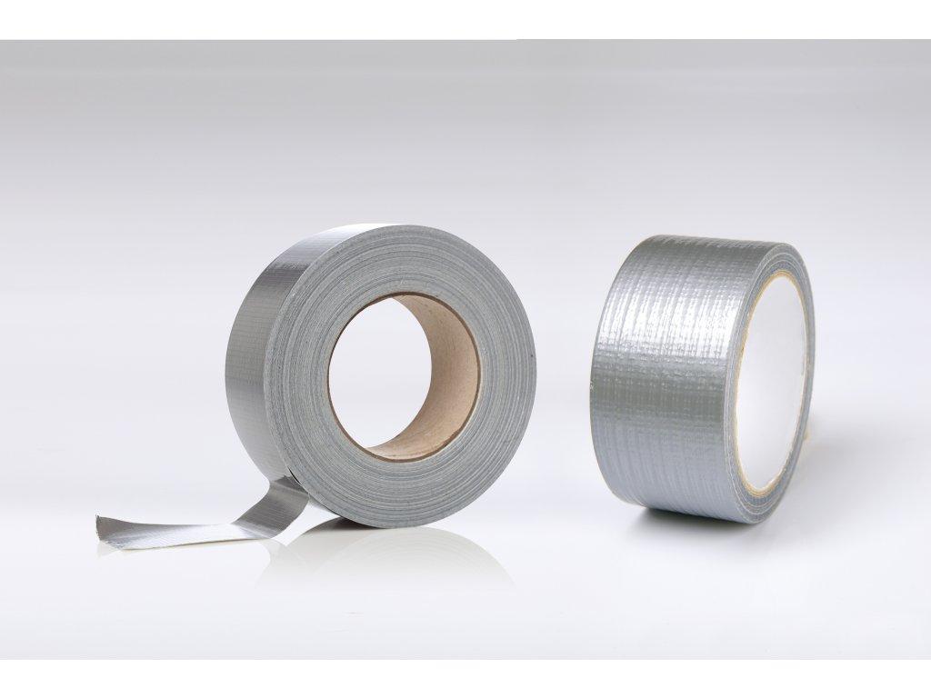 Páska stříbrná tex. lesk. profi 48mm x 50m