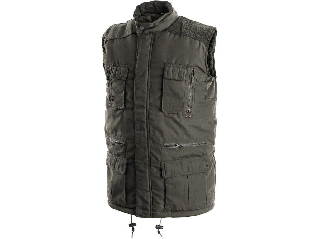 Pánská zimní vesta OHIO, zelená