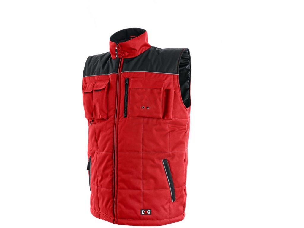Pánská zimní vesta SEATTLE, červeno-černá