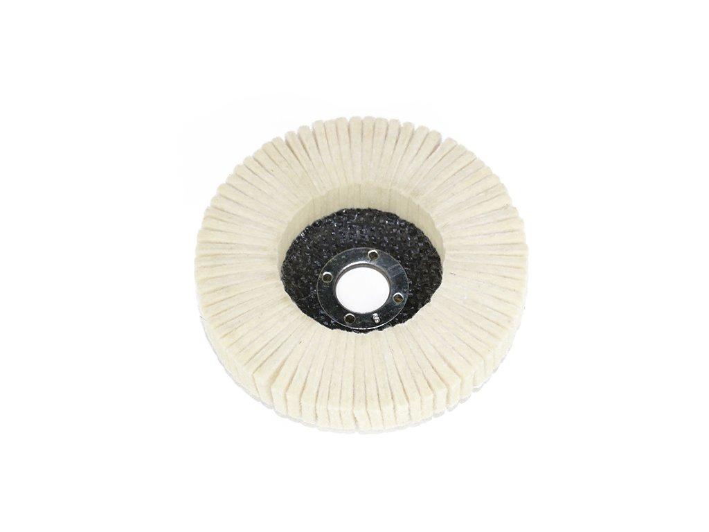 Leštící filcový lamelový kotouč 100x16mm