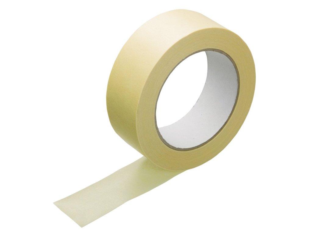 Páska lepicí krepová maskovací Hot melt 19x50 m,  žlutá, 60°C