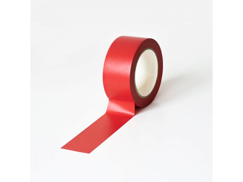 Podlahová vyznačovací páska 50 mm x 33 m - červená
