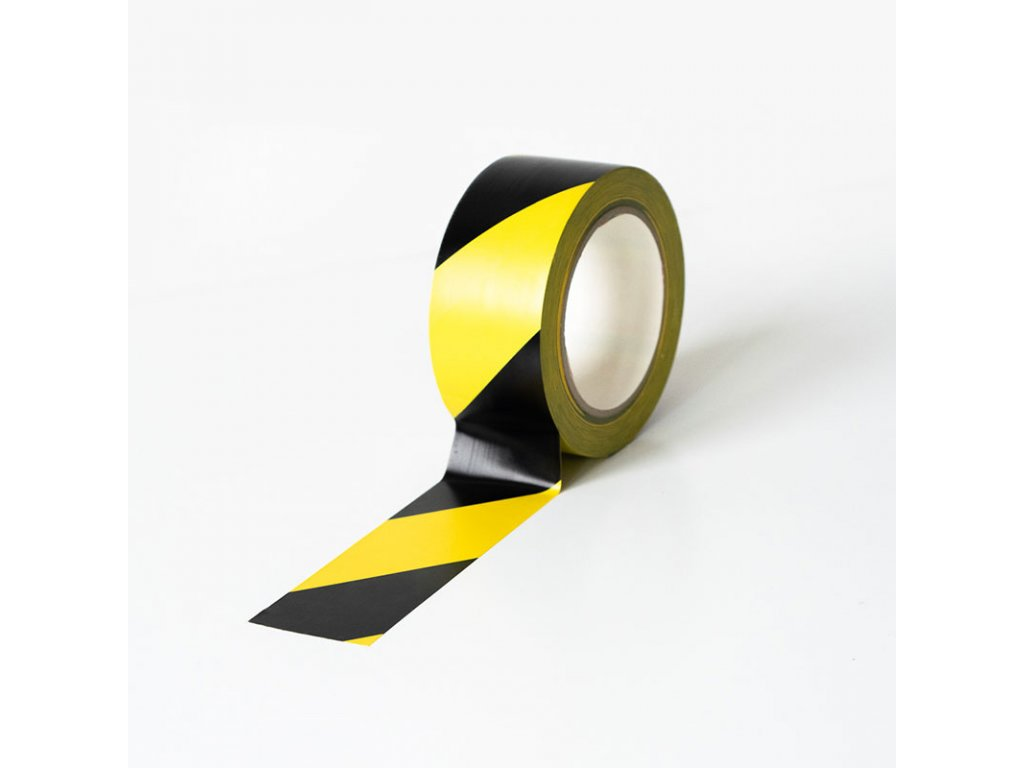 Podlahová vyznačovací páska 50 mm x 33 m - žlutočerná