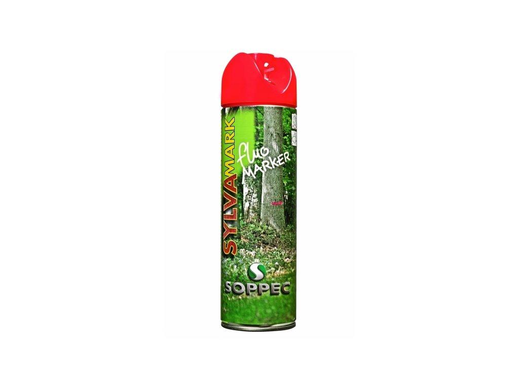 Značkovací sprej na dřevo Fluo Marker, červená