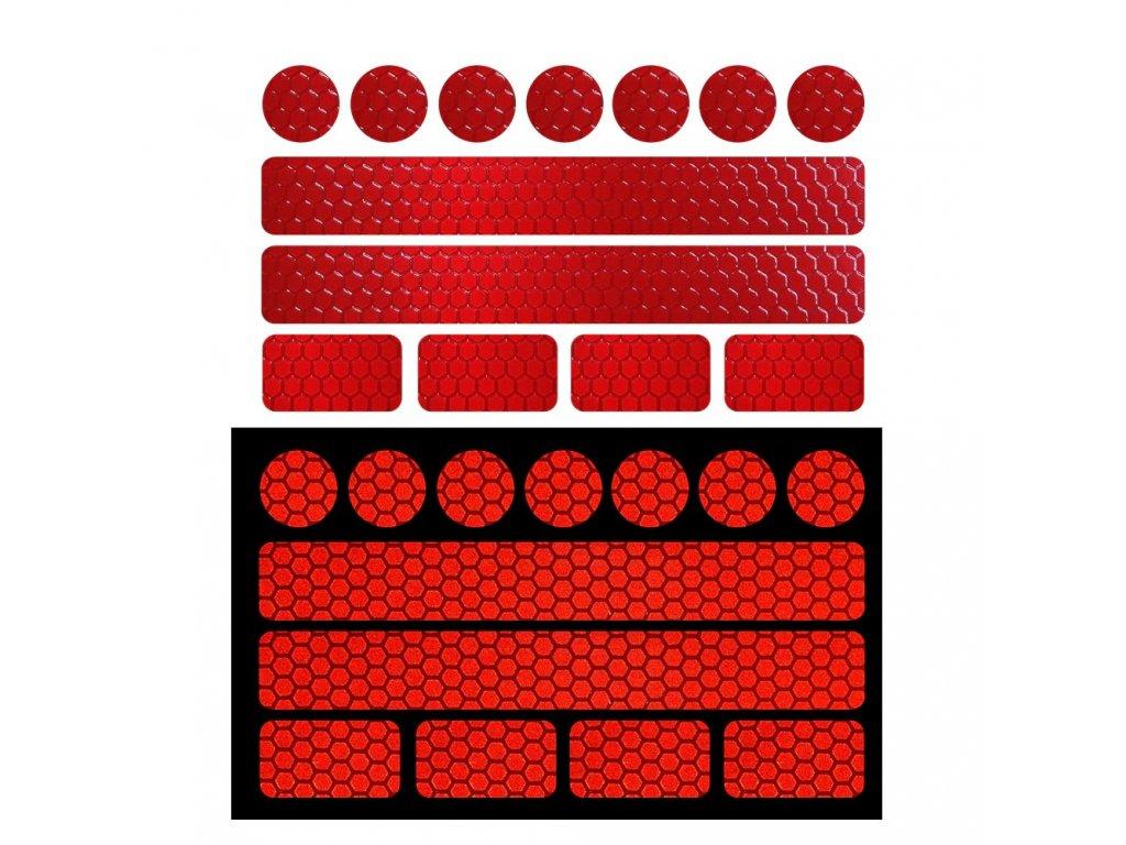Reflexni paska daitex cervena