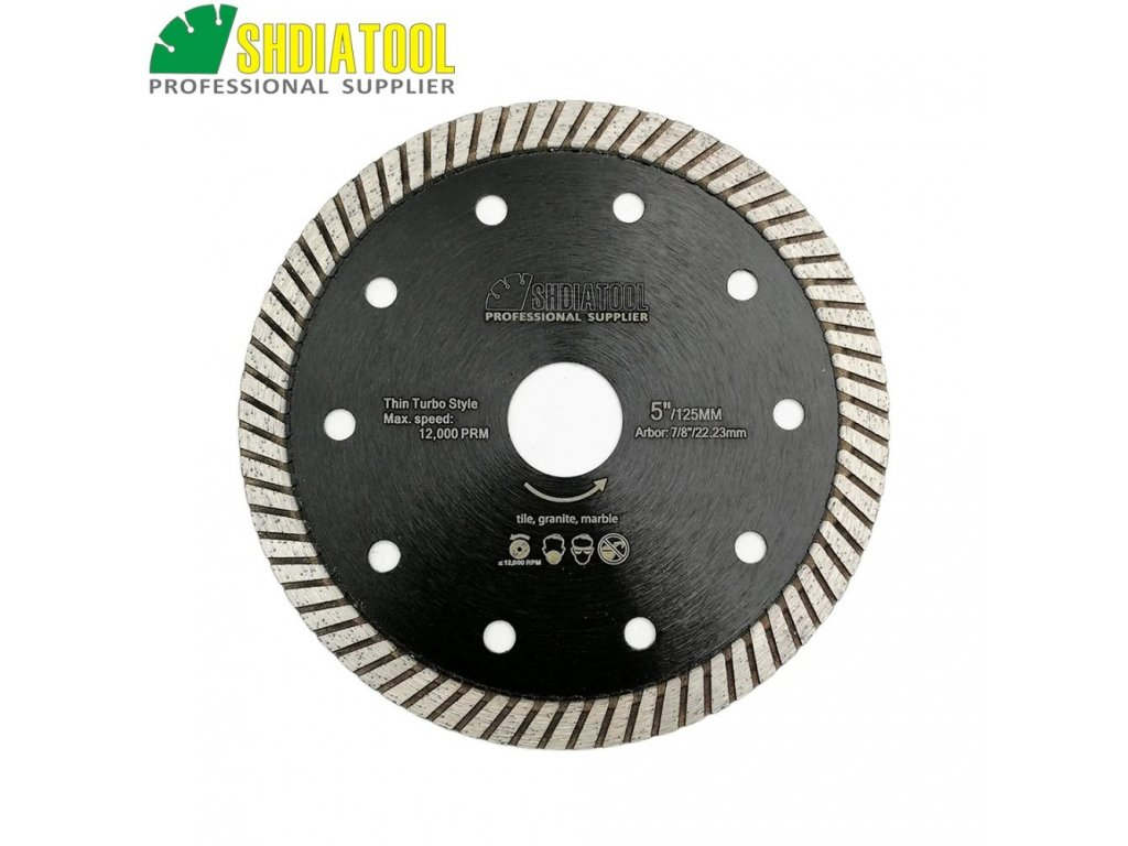 Kotouc diamantovy rezny Turbo 125 22,2mm Daitex