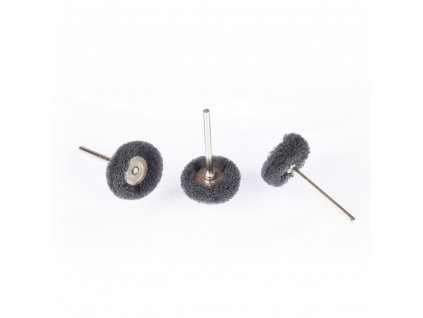 Brusné kartáče z nylonové netkané textilie černé