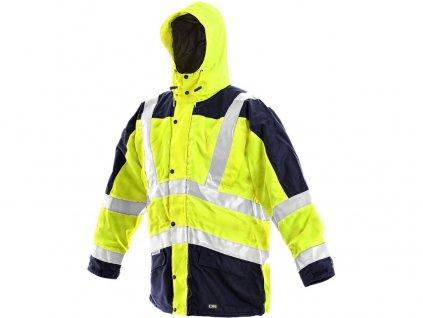 Pánská reflexní bunda LONDON, 5V1, žluto-modrá