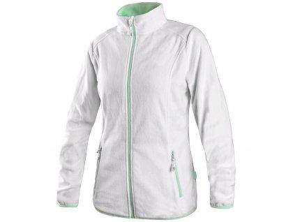 Mikina GRANBY LADY, dámská, fleece, bílo - zelená