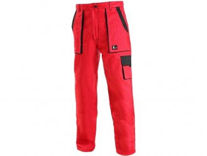 Kalhoty do pasu CXS LUXY ELENA, dámské, červeno-černé