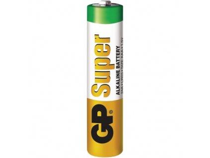 Baterie alkalická, AAA, 1.5V, GP, SUPER mikrotužka