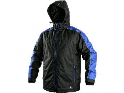 Bunda CXS BRIGHTON, pánská, zimní, černo-modrá