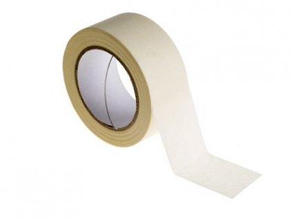 Páska lepicí krepová maskovací Solvent 25x50 m, bílá,90°C