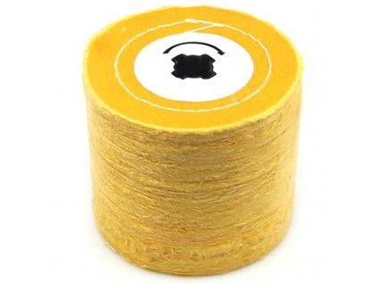 Leštící hadrový válec žlutý 120x100x19mm