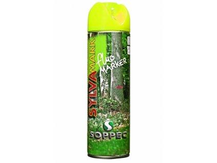Značkovací sprej na dřevo Fluo Marker, žlutá
