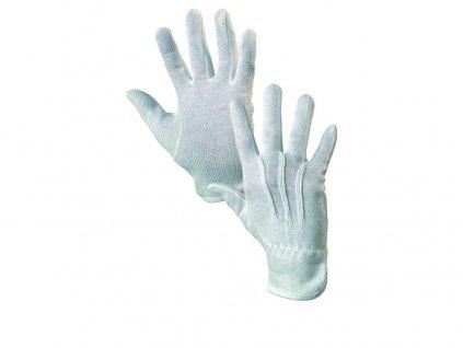 Textilní rukavice MAWA, s PVC terčíky, bílé