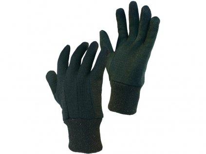 Textilní rukavice NOE, hnědé