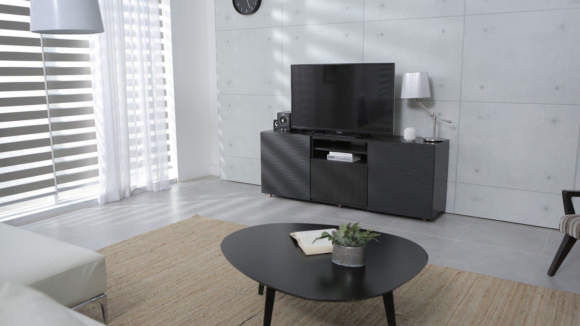 Do moderního obýváku patří televizní panel