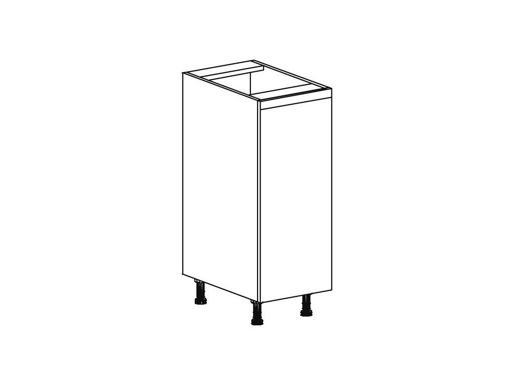 Kuchyňská skříňka spodní Domel Lesk D-30/82-Pr/Lw