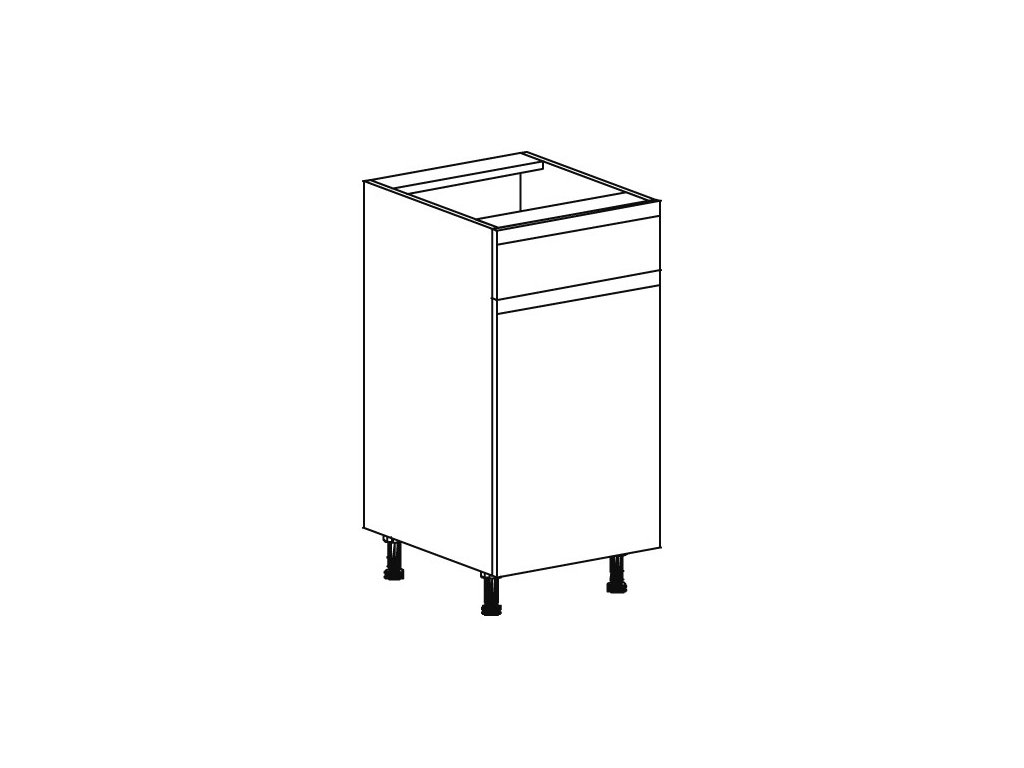 Kuchyňská skříňka spodní Domel Lesk D-40/82/1Sz-Pr/Lw