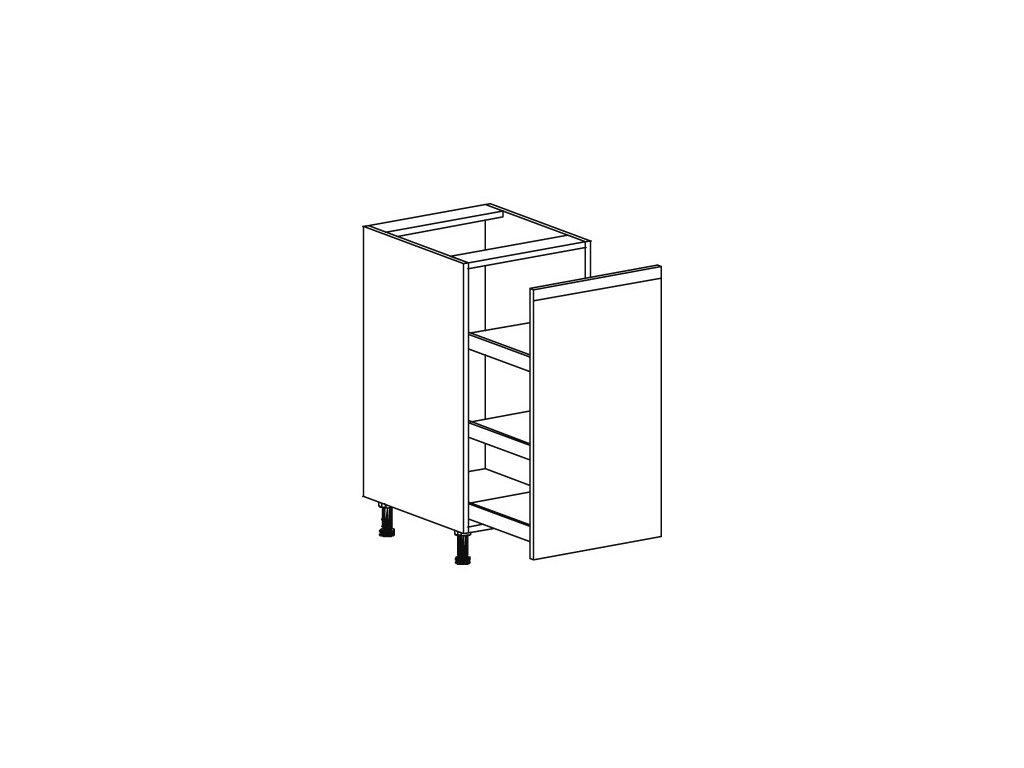 Kuchyňská skříňka spodní Domel Lesk D-40/82/C