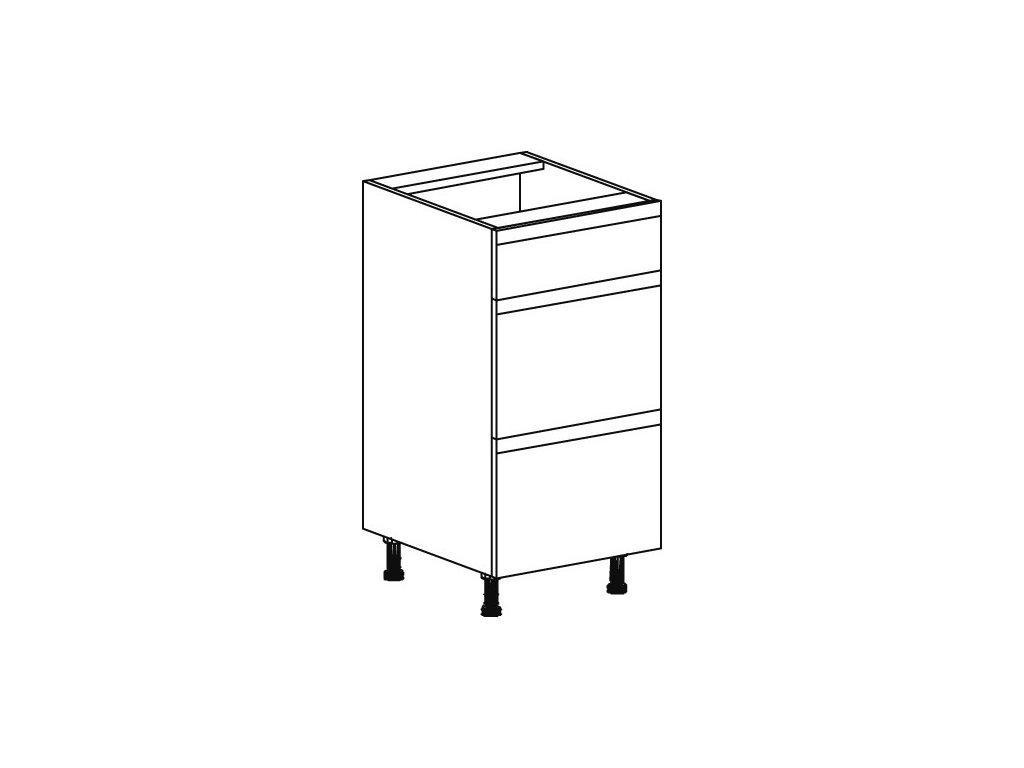 Kuchyňská skříňka spodní Domel Lesk D-40/82/3Sz