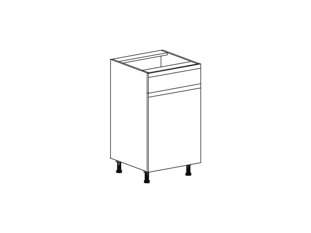 Kuchyňská skříňka spodní Domel Lesk D-45/82/1Sz-Pr/Lw