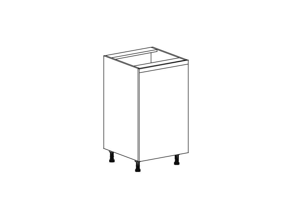 Kuchyňská skříňka spodní Domel Lesk D-45/82-Pr/Lw