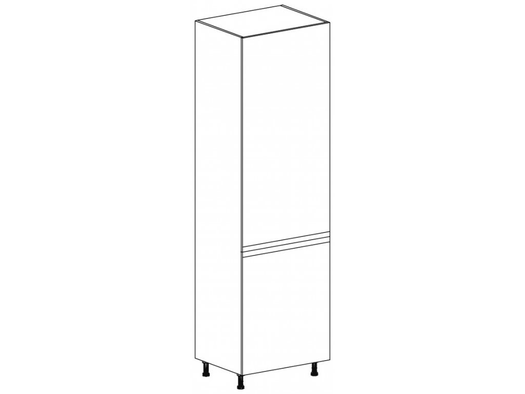 Kuchyňská skříňka vysoká Domel Lesk D-60/207/ZL-Pr/Lw