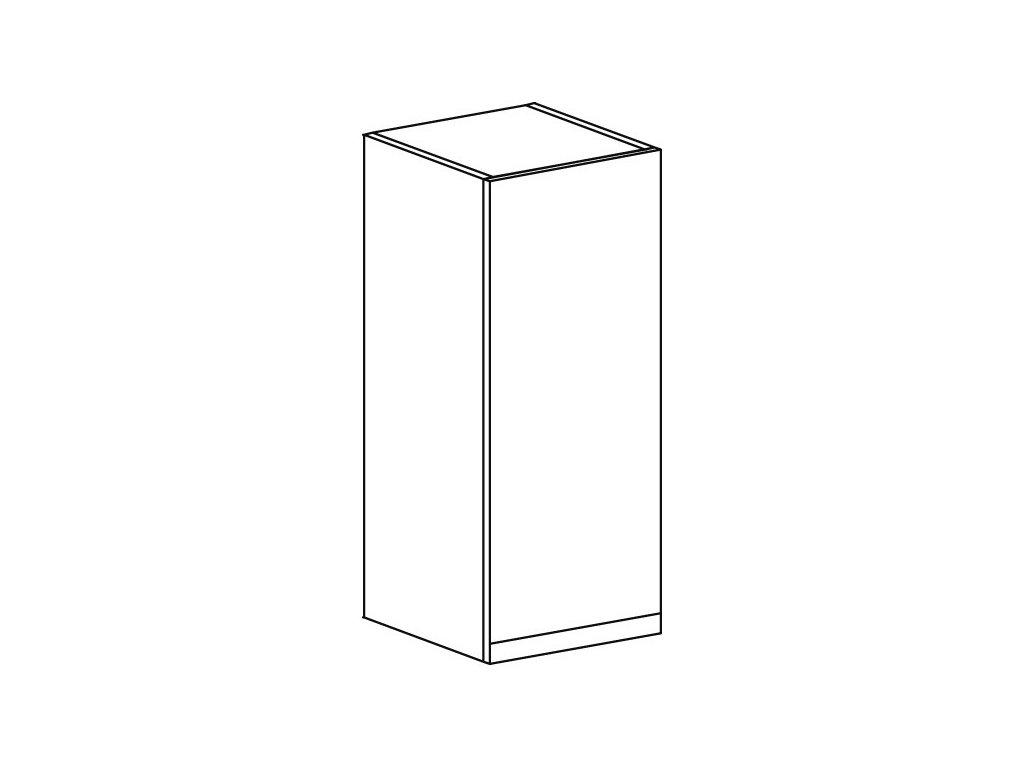 Kuchyňská skříňka horní Domel Lesk G-30/72-Pr/Lw