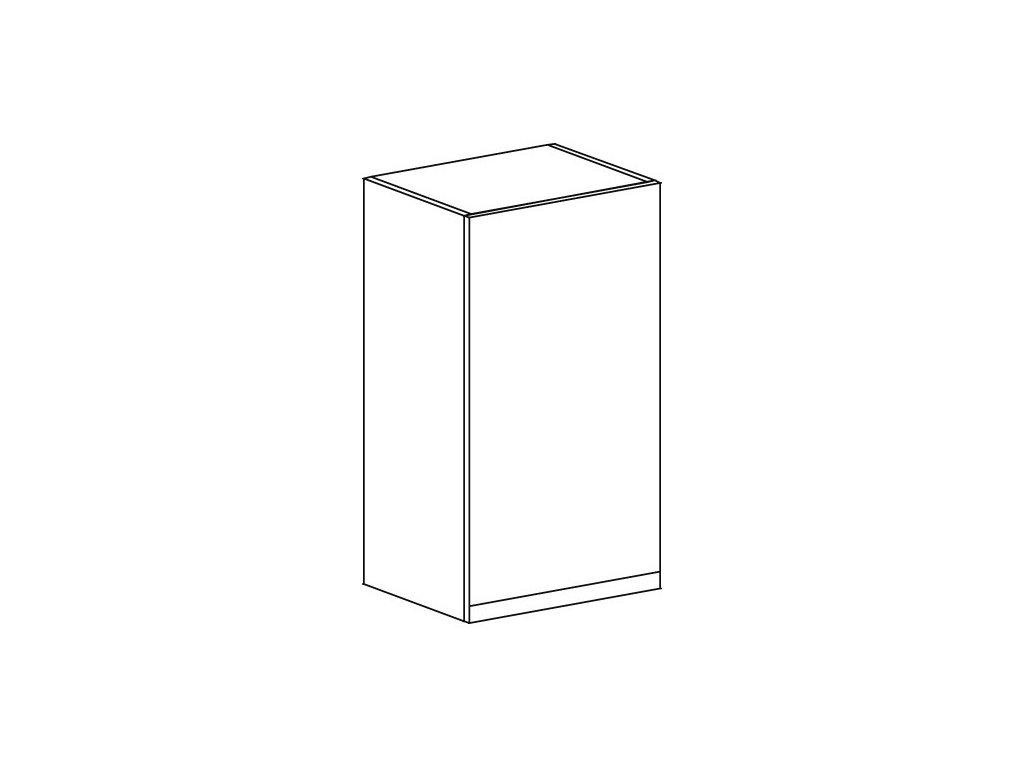 Kuchyňská skříňka horní Domel Lesk G-45/72-Pr/Lw