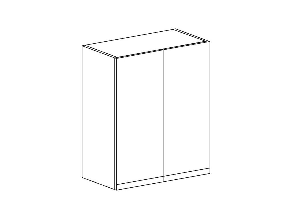 Kuchyňská skříňka horní Domel Lesk G-60/72