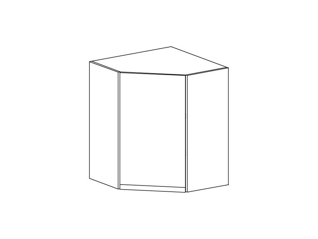 Kuchyňská skříňka horní rohová Domel Lesk G-60/72/N-Pr/Lw