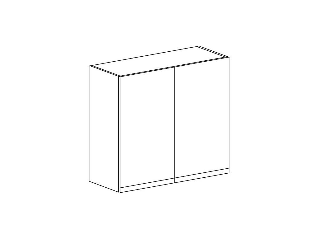 Kuchyňská skříňka horní Domel Lesk G-80/72