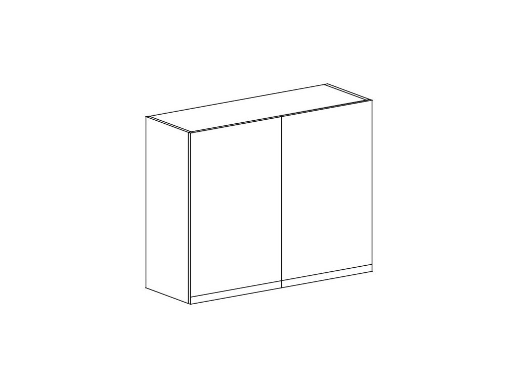 Kuchyňská skříňka horní Domel Lesk G-90/72
