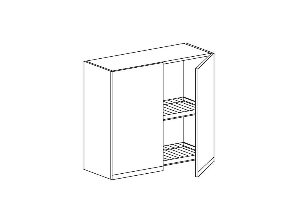 Kuchyňská skříňka horní Domel Lesk G-80/72/OC