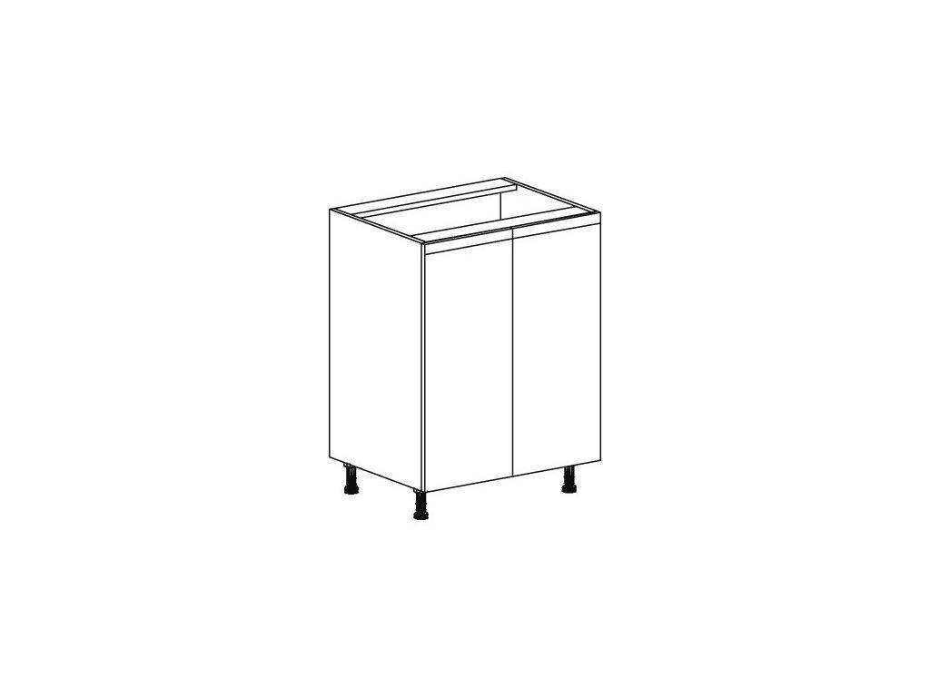 Kuchyňská skříňka spodní Domel Lesk D-60/82