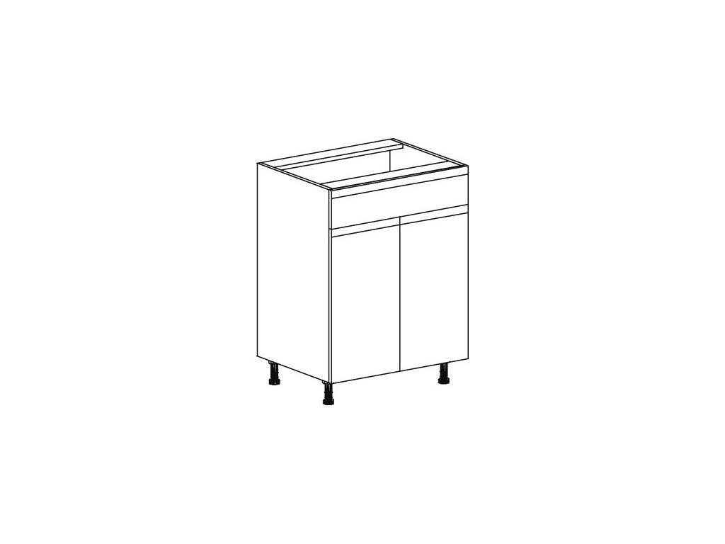 Kuchyňská skříňka spodní Domel Lesk D-60/82/1Sz