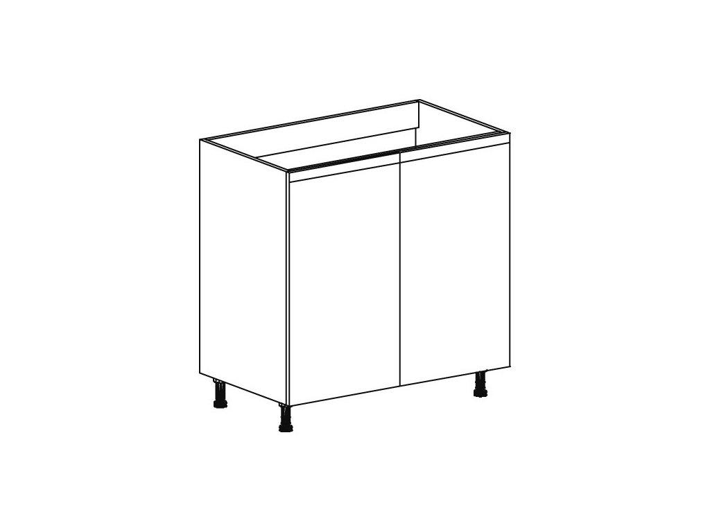 Kuchyňská skříňka spodní Domel Lesk D-80/82/Z